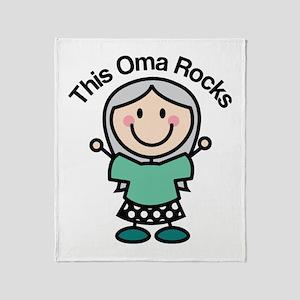 Oma Rocks Throw Blanket