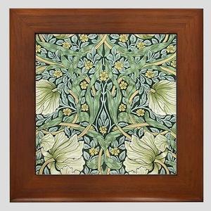 William Morris Pimpernel Design Framed Tile