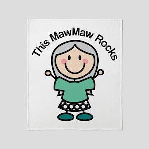 MawMaw Rocks Throw Blanket