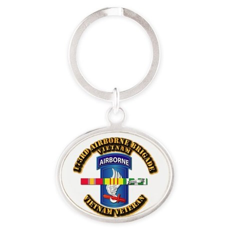 Army - 173rd Airborne Brigade w SVC Ribbons Oval K