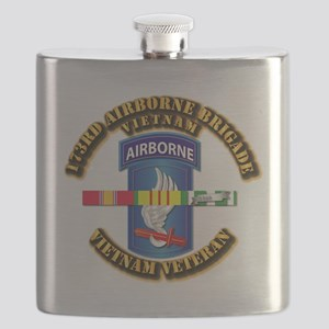 Army - 173rd Airborne Brigade w SVC Ribbons Flask