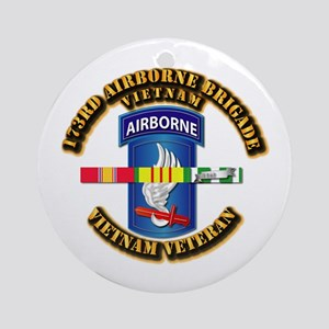 Army - 173rd Airborne Brigade w SVC Ribbons Orname