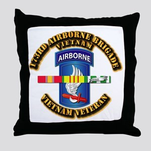 Army - 173rd Airborne Brigade w SVC Ribbons Throw