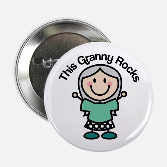 "Granny Rocks 2.25"" Button"