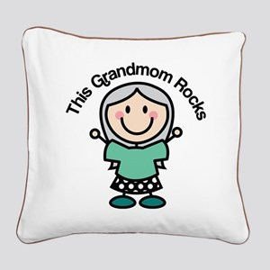 Grandmom Rocks Square Canvas Pillow