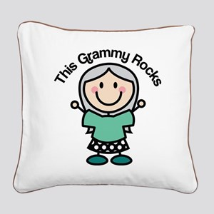 Grammy Rocks Square Canvas Pillow