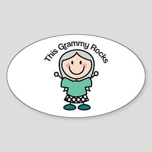 Grammy Rocks Sticker (Oval)