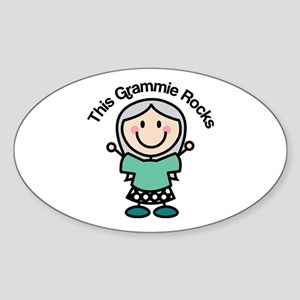 Grammie Rocks Sticker (Oval)