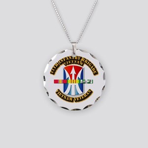 Army - 11th Infantry Bde w Svc Ribbons Necklace Ci
