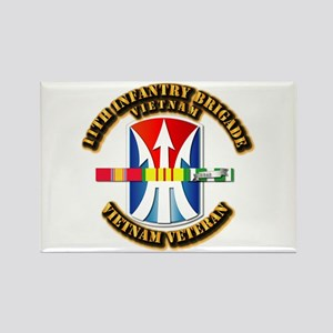 Army - 11th Infantry Bde w Svc Ribbons Rectangle M