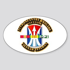 Army - 11th Infantry Bde w Svc Ribbons Sticker (Ov