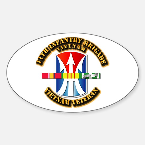 Army - 11th Infantry Bde w Svc Ribbons Decal