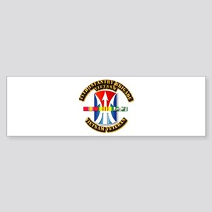 Army - 11th Infantry Bde w Svc Ribbons Sticker (Bu