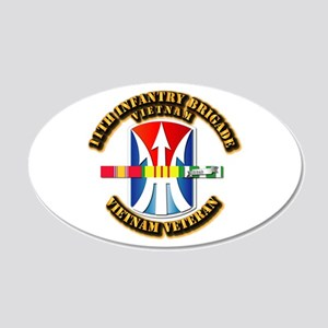 Army - 11th Infantry Bde w Svc Ribbons 20x12 Oval
