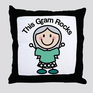 Gram Rocks Throw Pillow