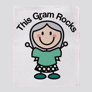 Gram Rocks Throw Blanket