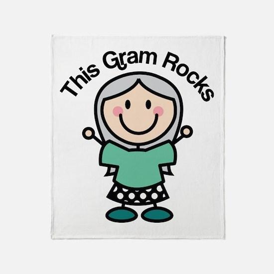 Gram Rocks Throw Blanket