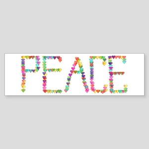 Peace Hearts Sticker (Bumper)