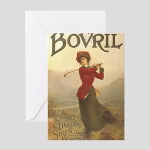 Bovril Golf Vintage Poster Greeting Card