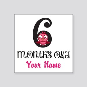 6 Months Old Baby Bird - Personalized Sticker