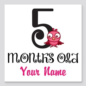 5 Months Old Baby Bird - Personalized Square Car M