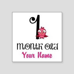 1 Month Old Baby Bird - Personalized Sticker