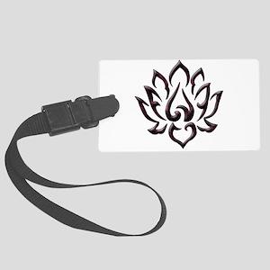 Lotus Flower Large Luggage Tag