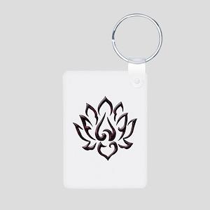 Lotus Flower Aluminum Photo Keychain