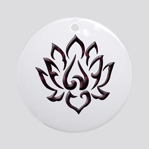 Lotus Flower Ornament (Round)