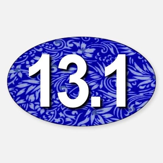 Super Unique 13.1 Floral BLUE Decal