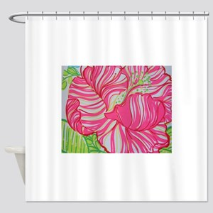 Hibiscus In Lilly Pulitzer Shower Curtain