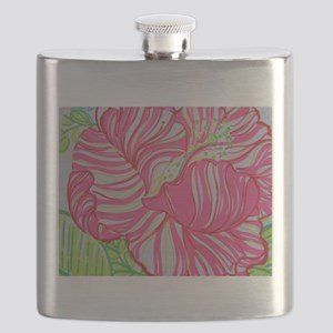 Hibiscus in Lilly Pulitzer Flask