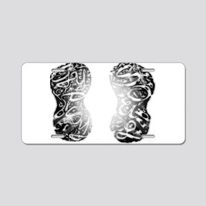 Gleam_Gypsy Footprints (Lg) Aluminum License Plate