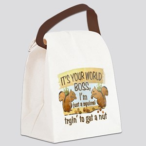 It's your world boss.. Canvas Lunch Bag