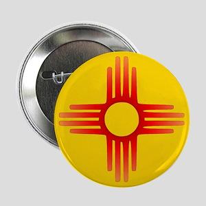 """Zia Sun Symbol 2.25"""" Button"""