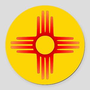Zia Sun Symbol Round Car Magnet
