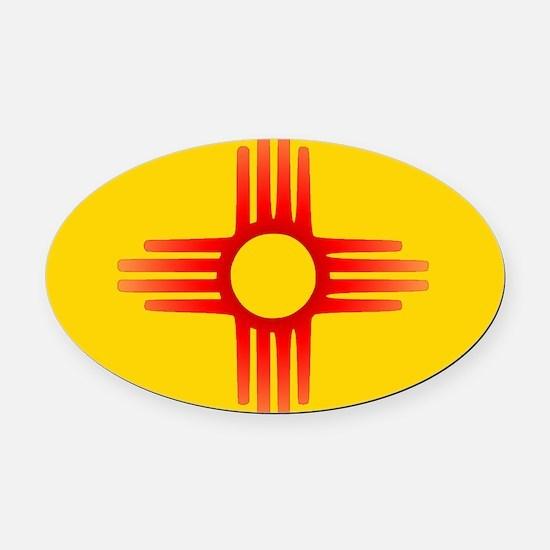 Zia Sun Symbol Oval Car Magnet