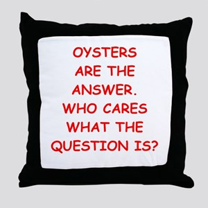 oysters Throw Pillow