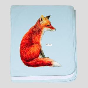 Red Fox Animal baby blanket