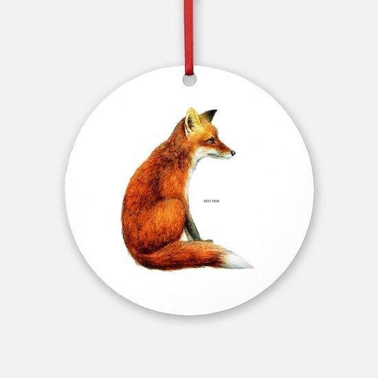 Red Fox Animal Ornament (Round)