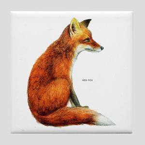 Red Fox Animal Tile Coaster