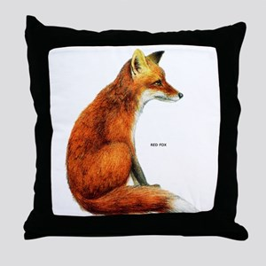 Red Fox Animal Throw Pillow