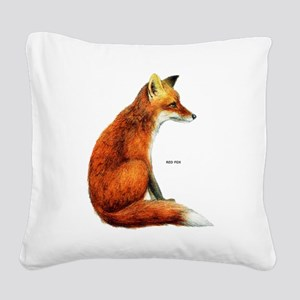 Red Fox Animal Square Canvas Pillow