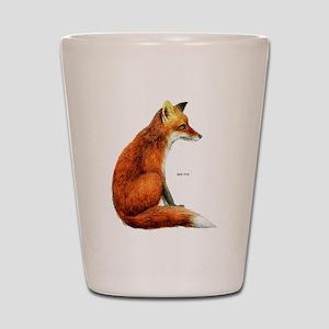 Red Fox Animal Shot Glass