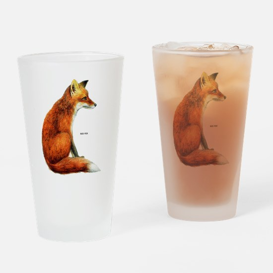 Red Fox Animal Drinking Glass