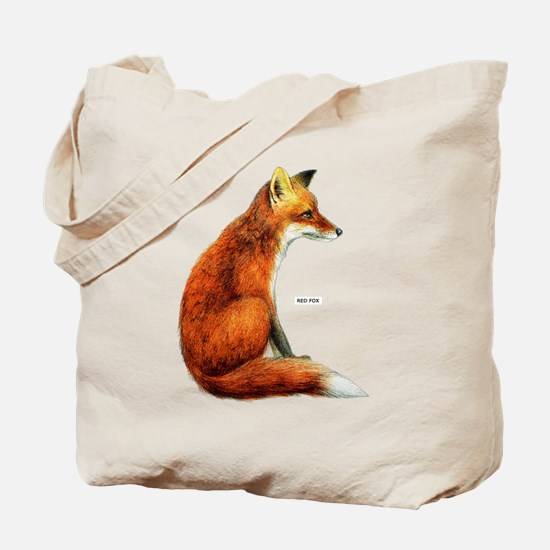 Red Fox Animal Tote Bag
