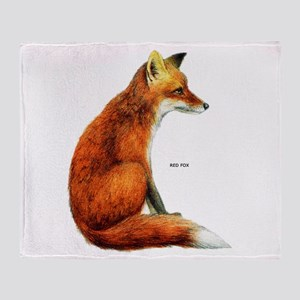 Red Fox Animal Throw Blanket