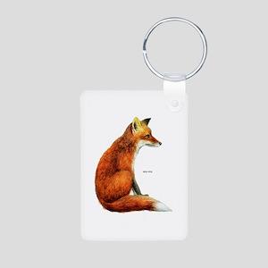 Red Fox Animal Aluminum Photo Keychain