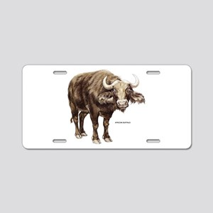 African Buffalo Animal Aluminum License Plate