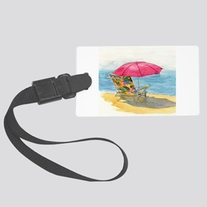 Beach Chair Large Luggage Tag